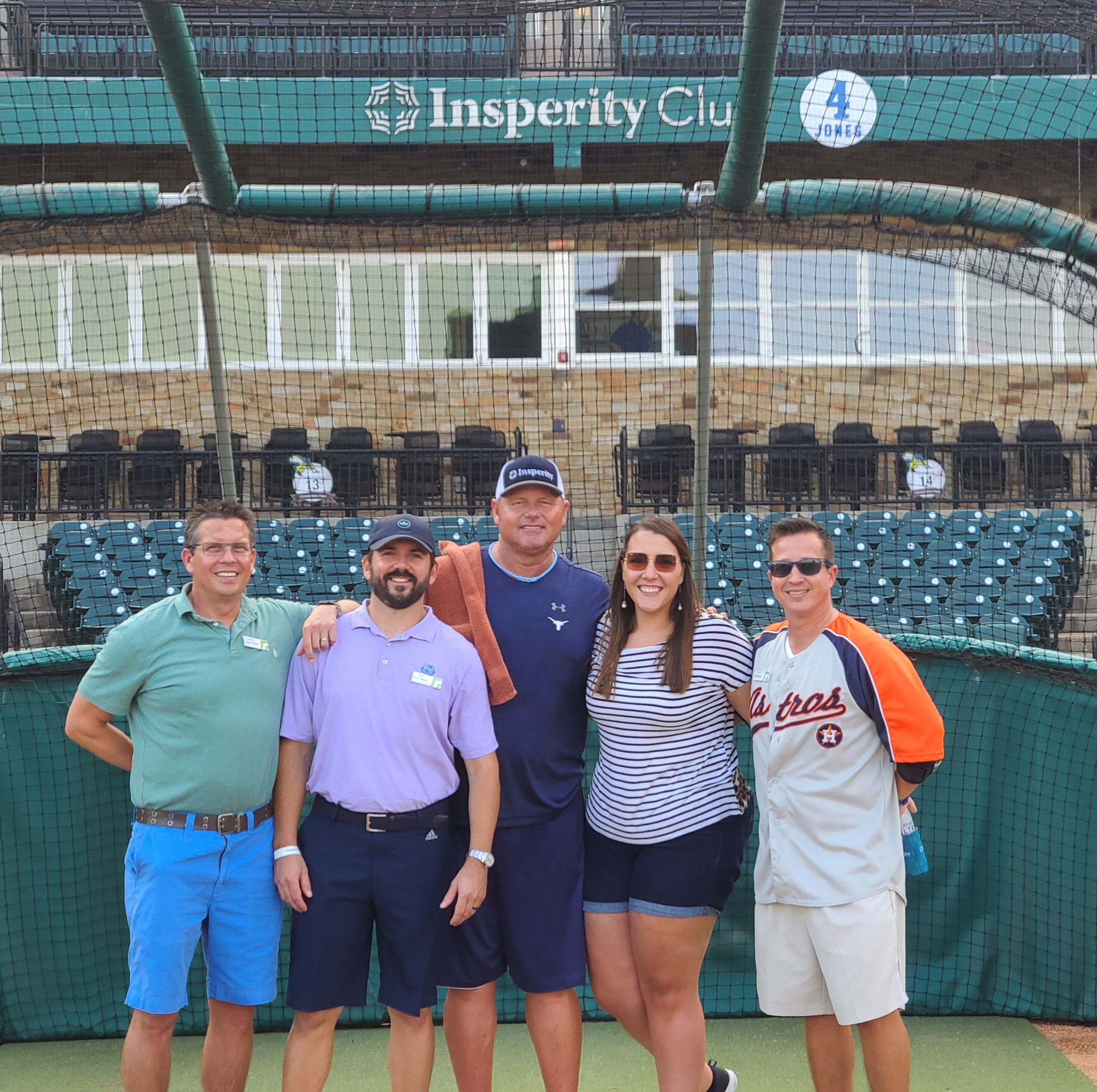 NAIFA Houston leadership with Roger Clemens at Insperity Event