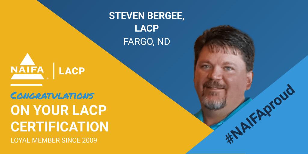 Steven Bergee Receives LACP Certification